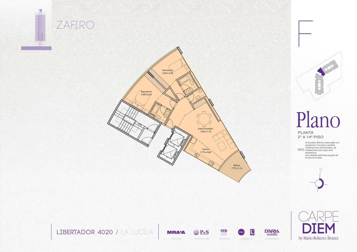 Semi piso 3 ambientes con vista al Rio y cochera cubierta