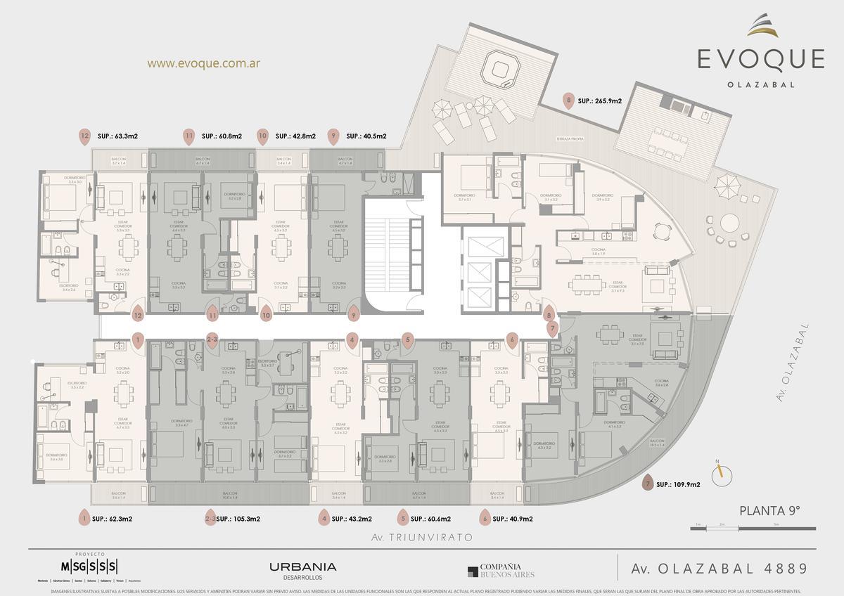 Foto Edificio en Villa Urquiza AV. OLAZABAL ESQ. AV. TRIUNVIRATO numero 21