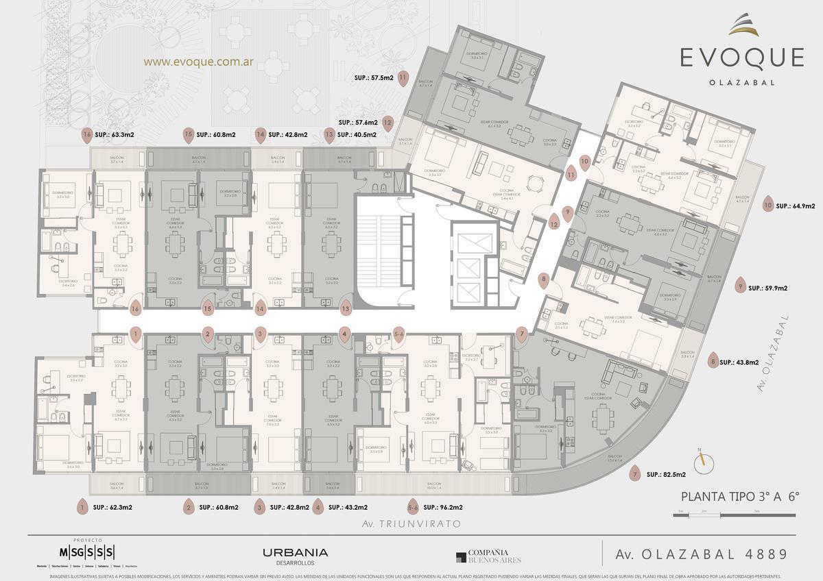 Foto Edificio en Villa Urquiza AV. OLAZABAL ESQ. AV. TRIUNVIRATO numero 15