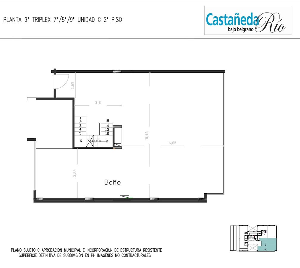 Emprendimiento Castañeda al Rio: Castañeda (y Sucre) en Belgrano