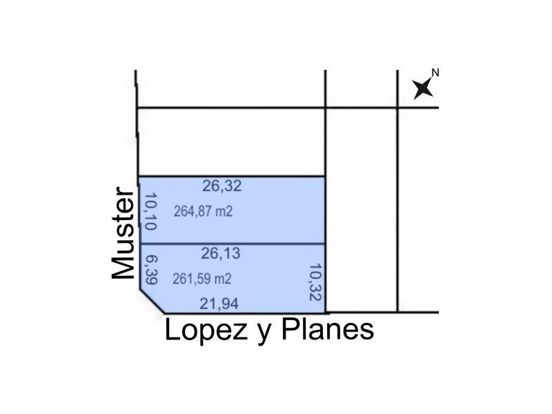 Foto Terreno en Venta en  Trelew ,  Chubut  Muster esquina Lopez y Planes