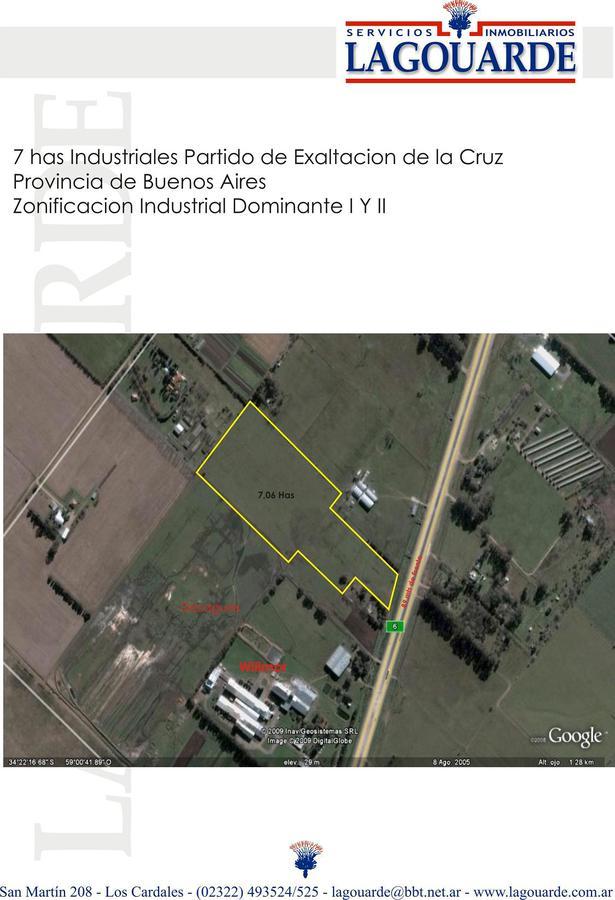 Foto Terreno en Venta en  Los Cardales,  Exaltacion De La Cruz  INDUSTRIAL - Sobre Autovía Ruta 6