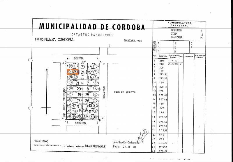 Foto Terreno en Venta en  Nueva Cordoba,  Capital  Pje Valtodano al 1300