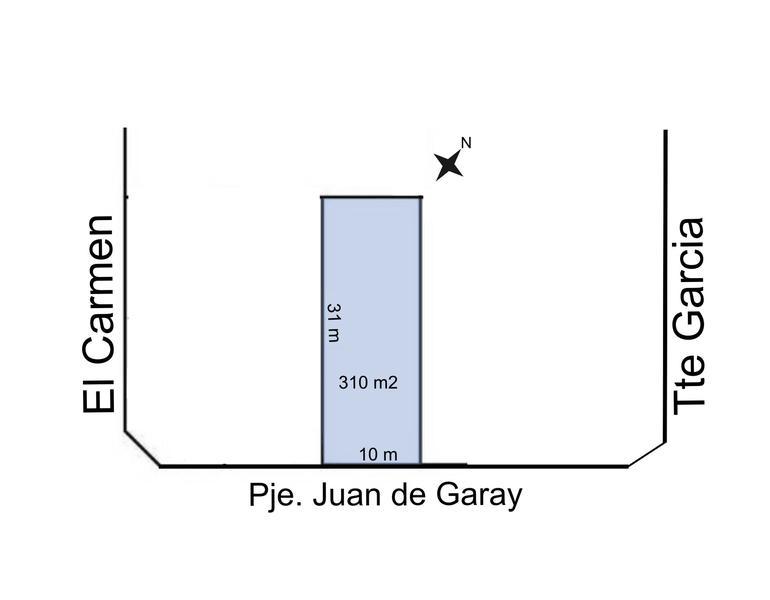 Foto Terreno en Venta en  Trelew ,  Chubut  Pje Juan de Garay entre Cambrin y Tte Garcia