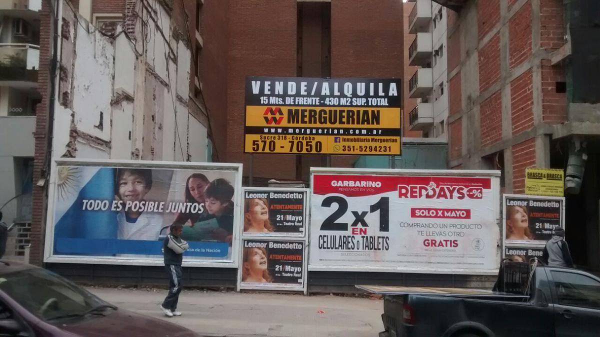 Foto Terreno en Alquiler en  Nueva Cordoba,  Capital  BV.CHACABUCO 436/42 (#)