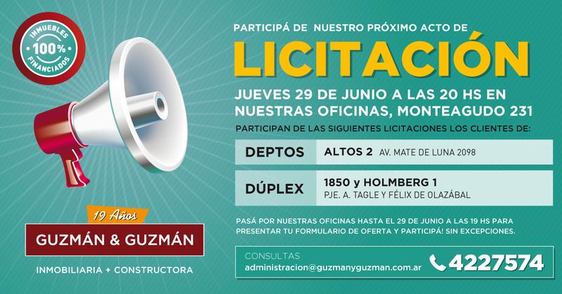 Foto Local en Venta   Alquiler en  Capital ,  Tucumán  Acto de Adjudicación