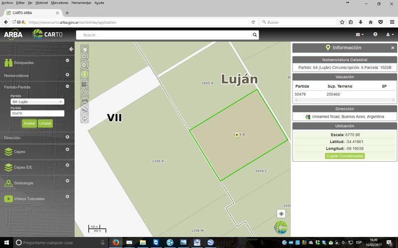 Foto Campo en Venta en  Lujan ,  G.B.A. Zona Oeste  Lujan
