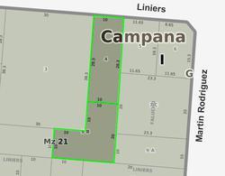 Foto thumbnail Terreno en Venta en  Centro (Campana),  Campana  Liniers entre Falucho y Martin Rodriguez