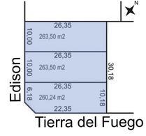 Foto thumbnail Terreno en Venta en  Trelew ,  Chubut  Edison al 1600