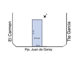 Foto thumbnail Terreno en Venta en  Trelew ,  Chubut  Pje Juan de Garay entre Cambrin y Tte Garcia