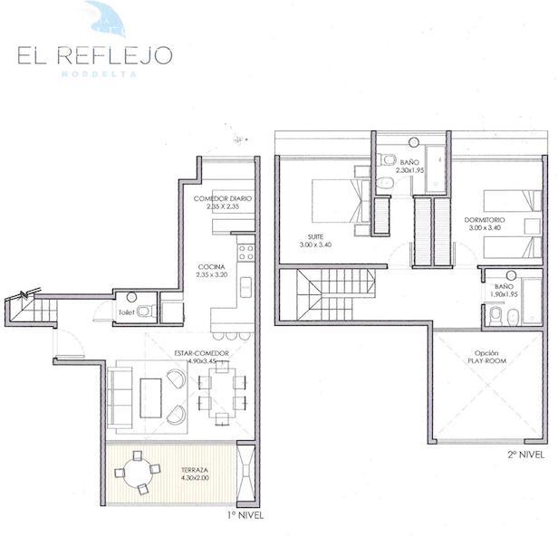 Departamento en Venta en El Reflejo a Venta - u$s 178.000