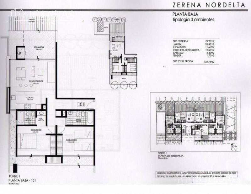 Departamento en Venta  en Nordelta El Palmar Zerena
