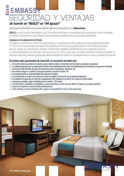 Foto Hotel en Venta en  Puerto Iguazu,  Iguazu  PREVENTA  - 25M2 H4-Fideicomiso Iguazu  - Julio P. Amarante 49