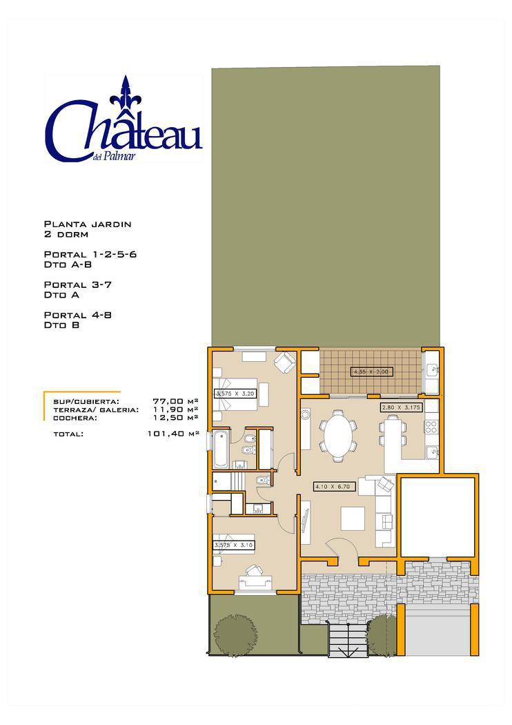 Departamento en Venta en Chateau del Palmar a Venta - u$s 225.000
