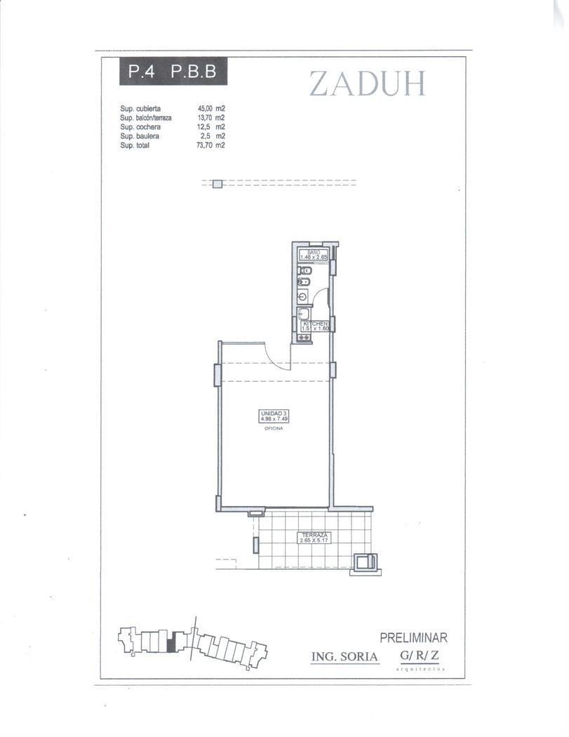 Oficina en Alquiler Venta en Zaduh a Alquiler - $ 8.000 Venta - u$s 155.000