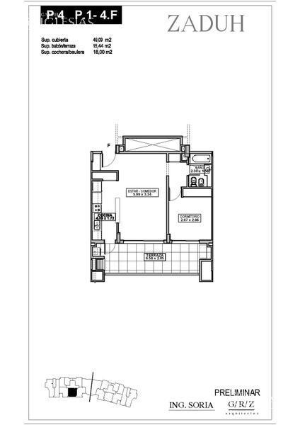 Departamento en Alquiler en Zaduh a Alquiler - $ 12.000