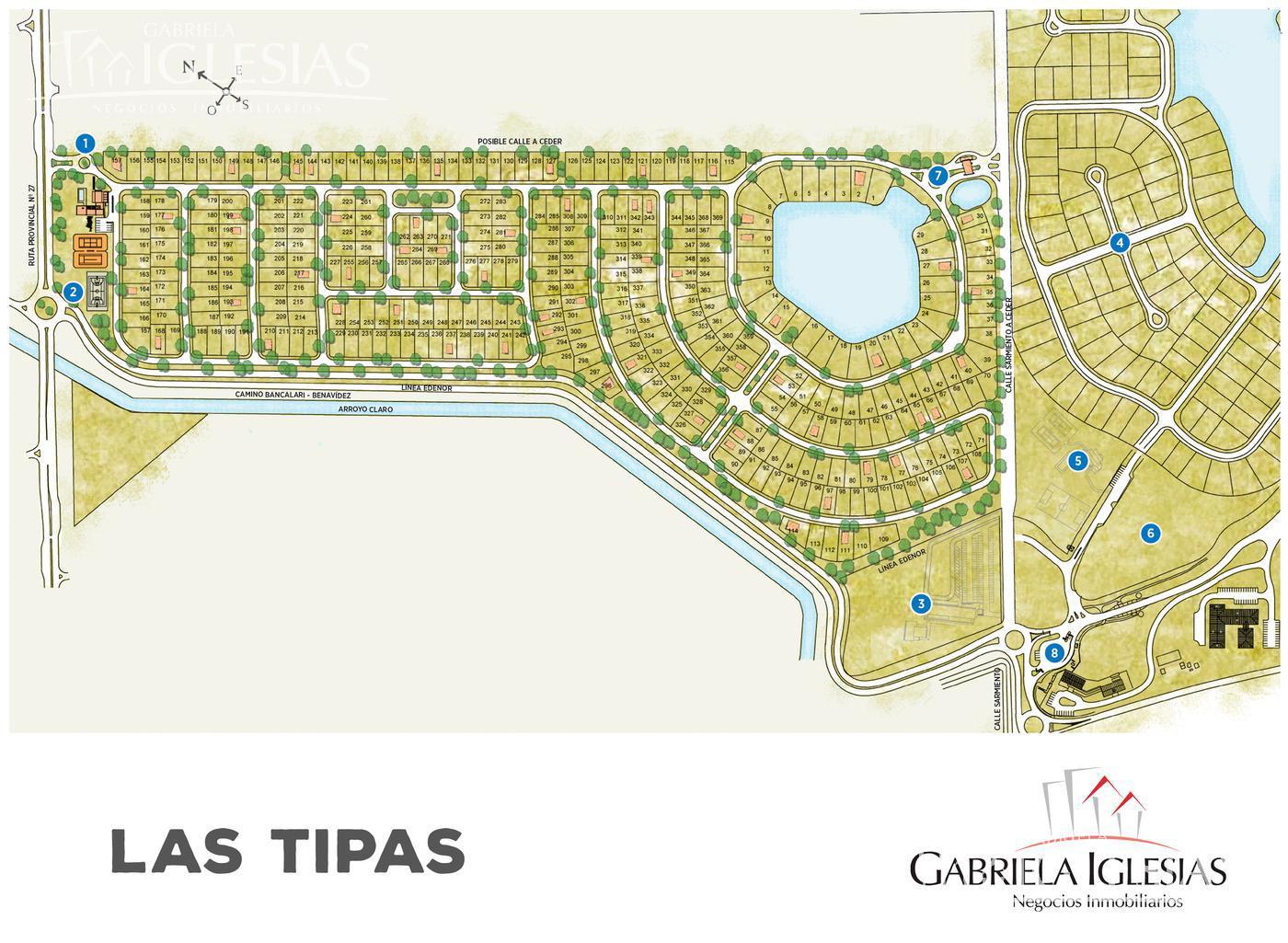 Terreno en Venta en Nordelta Las Tipas a Venta - u$s 99.000