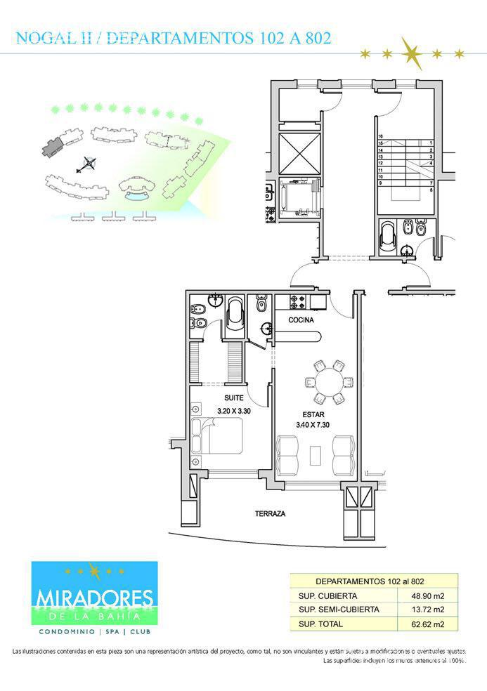 Departamento en Alquiler en Miradores de la Bahia a Alquiler - $ 12.000