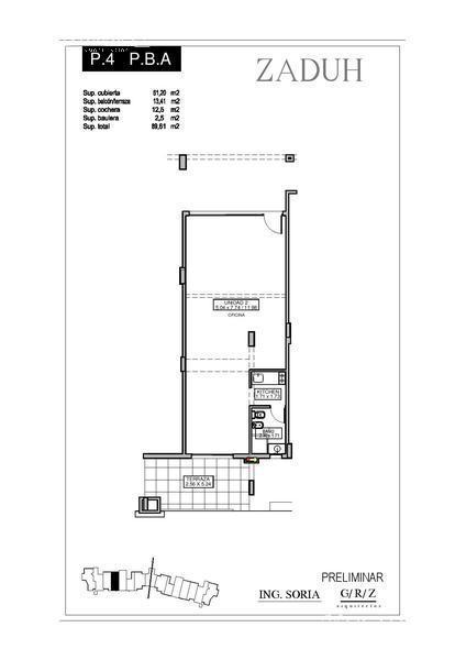 Oficina en Alquiler en Zaduh a Alquiler - $ 10.500