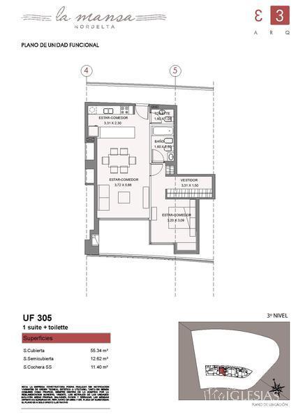 Departamento en Venta en La Mansa a Venta - u$s 185.000